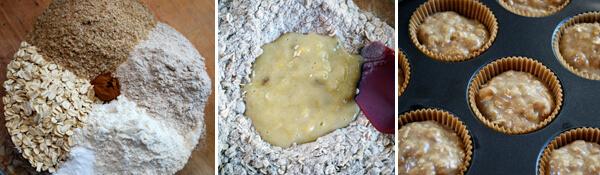 Low Fat Oatmeal-Banana Muffins Detail