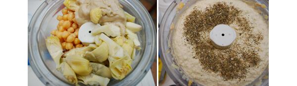 Italian Artichoke Hummus Detail