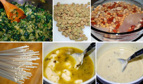 Persian Noodle Soup (Ash-e Reshteh) Detail