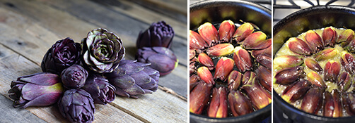 Braised Baby Purple Artichokes Detail