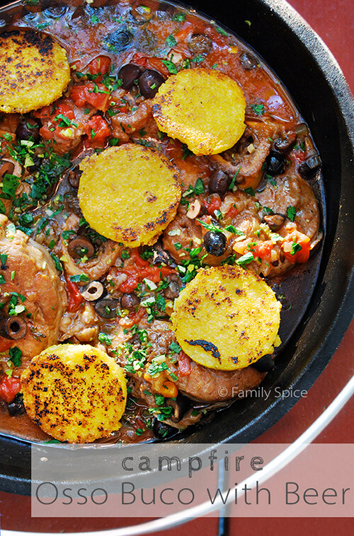 Osso Buco with Beer, Olives, and Gremolata