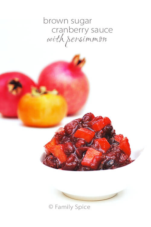Cranberries with Persimmon by FamilySpice.com