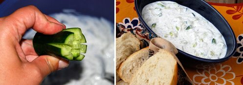 Mast-o Khiar (Persian Yogurt with Cucumbers) Detail