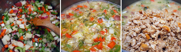 Chunky New England Clam Chowder Detail
