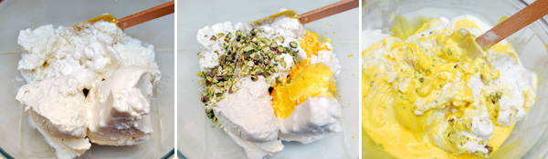 Persian Ice Cream with Saffron and Rosewater Detail