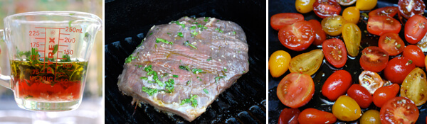 Italian Flank Steak with Roasted Tomatoes Detail