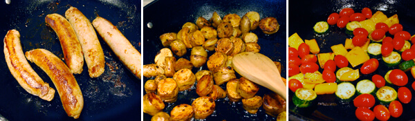 Italian Sausage Hash with Fingerling Potatoes Detail