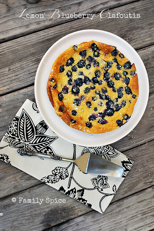 Lemon Recipes: Lemon Blueberry Clafoutis