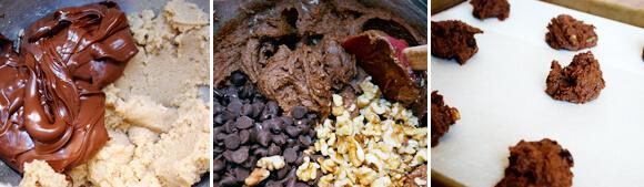 Chocolate Nutella Cookies Detail