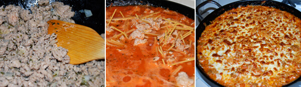 One-Pan Spaghetti Detail