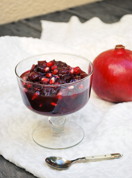 Pomegranate-Cranberry Sauce