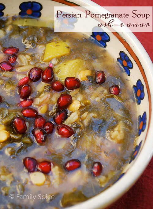 Persian Pomegranate Soup (Ash-e Anar) by FamilySpice.com