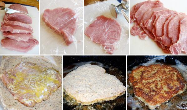 Pork Milanese Detail