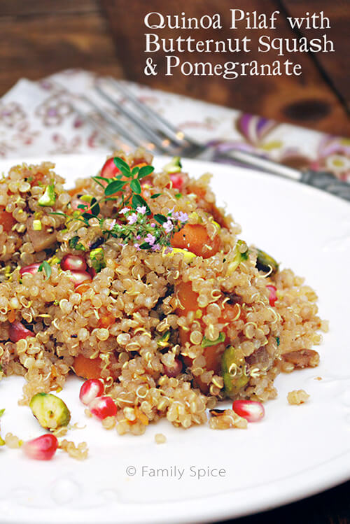 Quinoa Pilaf with Butternut Squash & Pomegranate