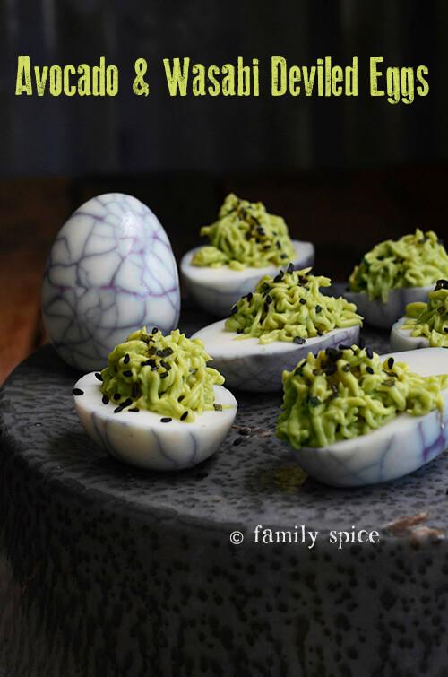 Avocado and Wasabi Deviled Eggs - Family Spice