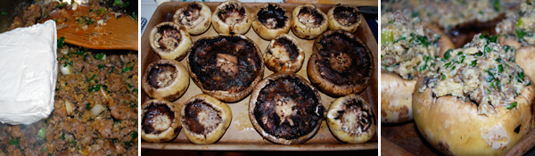 Sausage-Stuffed Mushrooms Detail