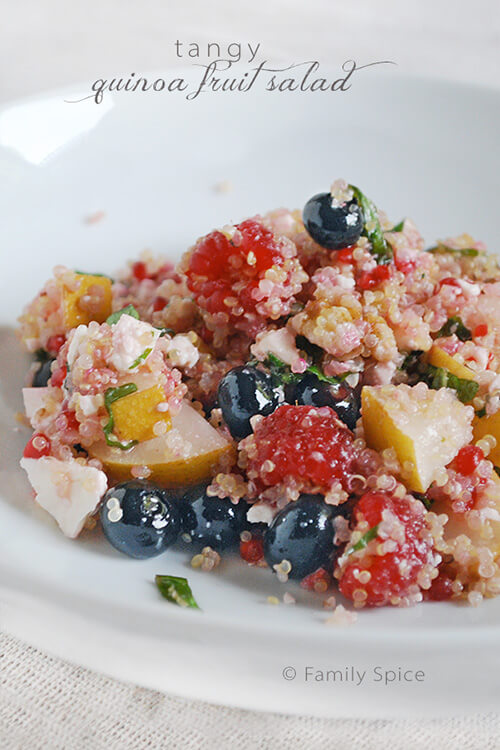 Quinoa Fruit Salad by FamilySpice.com