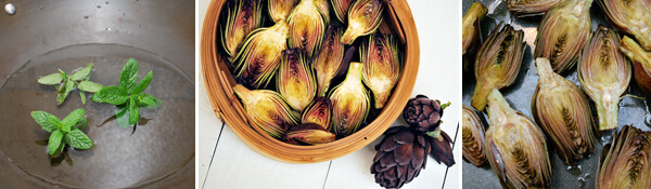 Tequila Lime Roasted Artichokes Detail