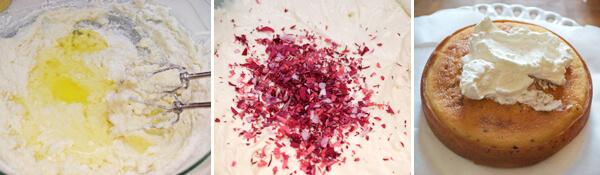 White Rose Cake Detail