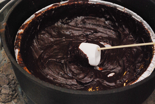 Dutch Oven Recipes: Chocolate Fondue by FamilySpice.com
