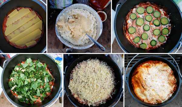 Dutch Oven Recipes: Campfire Lasagna by FamilySpice.com