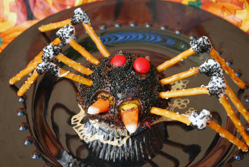 halloween cupcake decorating spiders