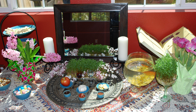 The haft sin for Persian New Year (Norouz) by FamilySpice.com
