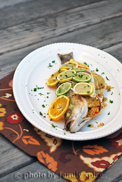 Lemon Recipes: Triple Citrus Striped Bass Stuffed with Quinoa