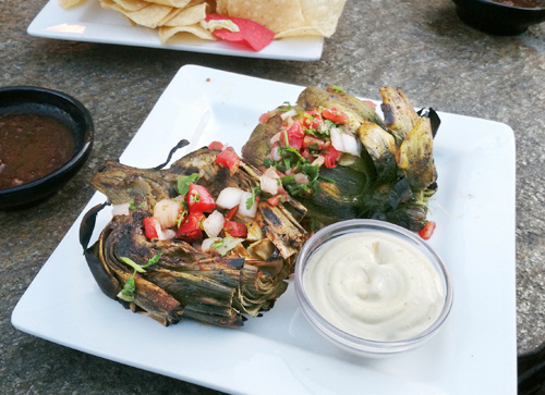 Chile Lime Roasted Artichokes by Familyspice.com