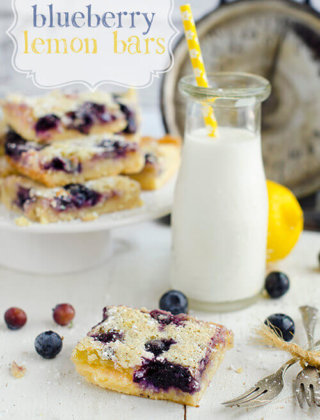 Blueberry Lemon Bars for Bittersweet Moments