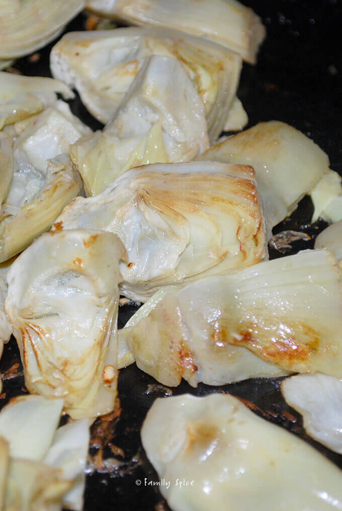 Artichoke hearts for French Country Chicken With Herbs and Honey by FamilySpice.com