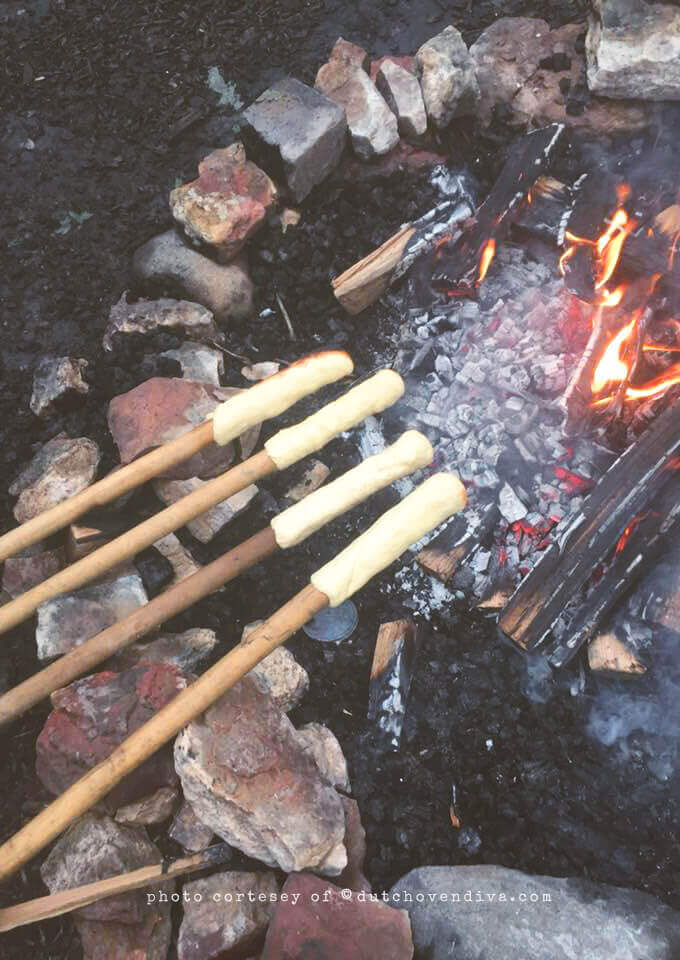 Making Campfire Eclairs from the Camp & Cabin Cookbook by Laura Bashar