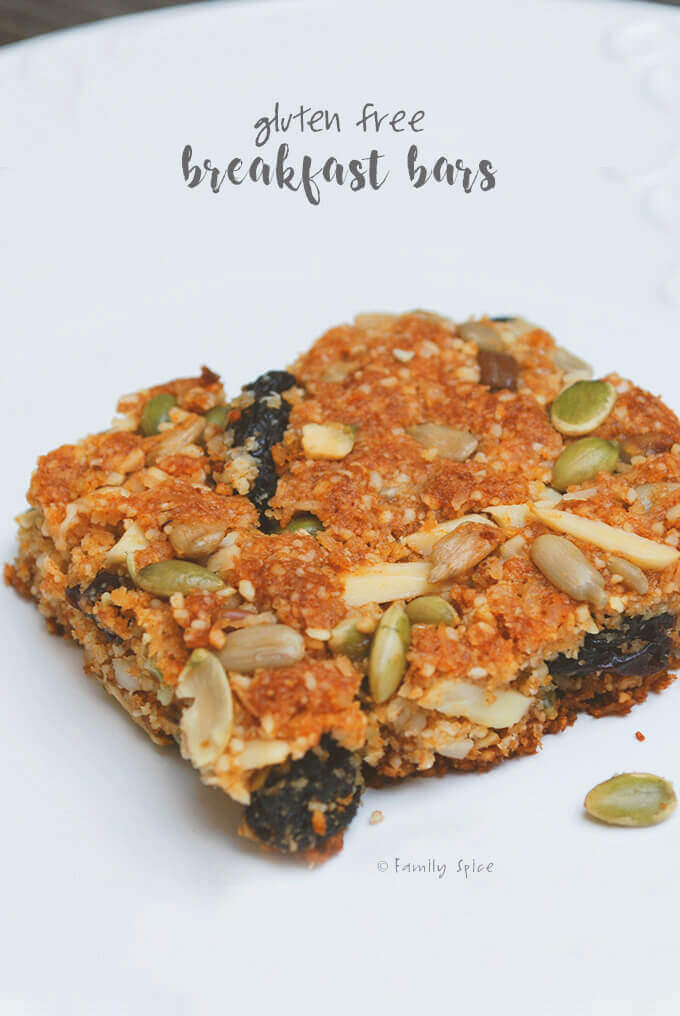 Gluten Free Breakfast Bars by FamilySpice.com