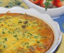 Crustless Quiche with Sausage & Vegetables by FamilySpice.com