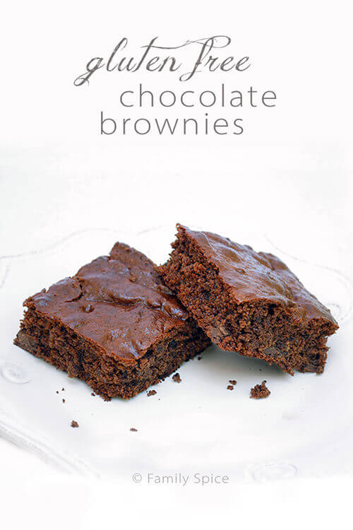 Gluten Free Chocolate Chip Brownies. by FamilySpice.com