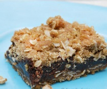 Espresso Spiked Oatmeal Fudge Bar by FamilySpice.com