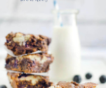 Blueberry Cream Cheese Brownies by FamilySpice.com