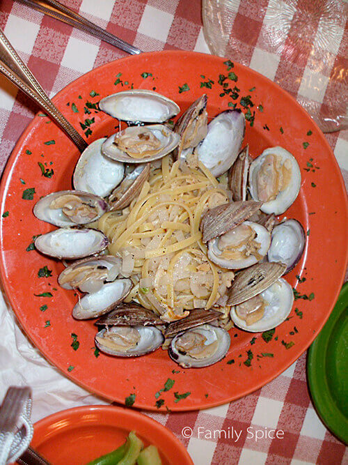 Linguine with Clams from Ciopinno's Restaurant by FamilySpice.com
