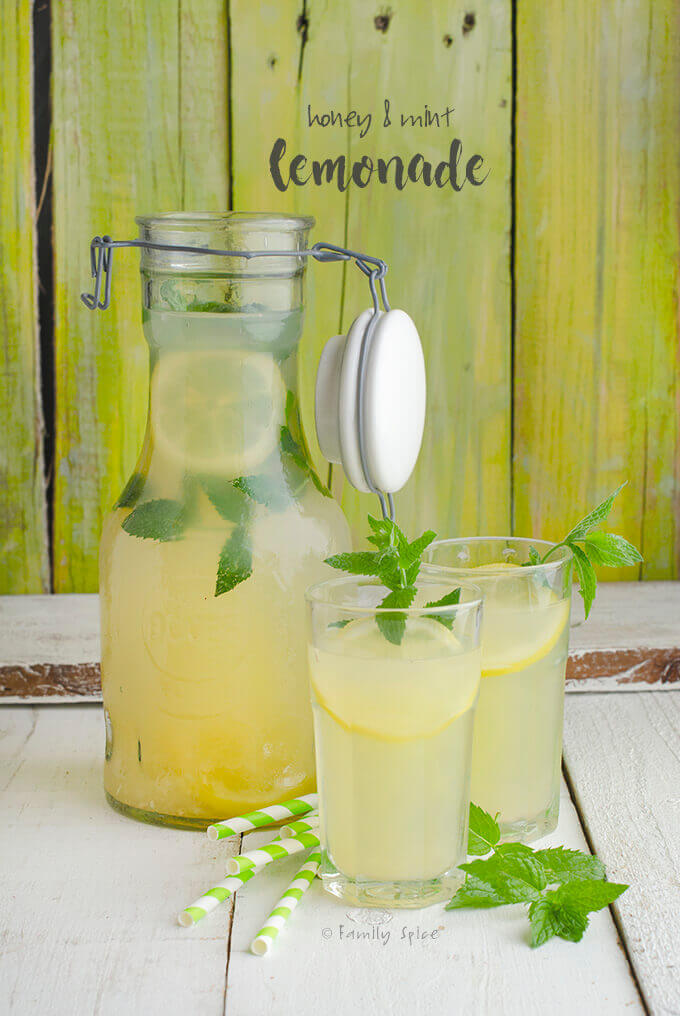 Honey Lemonade with Mint by FamilySpice.com