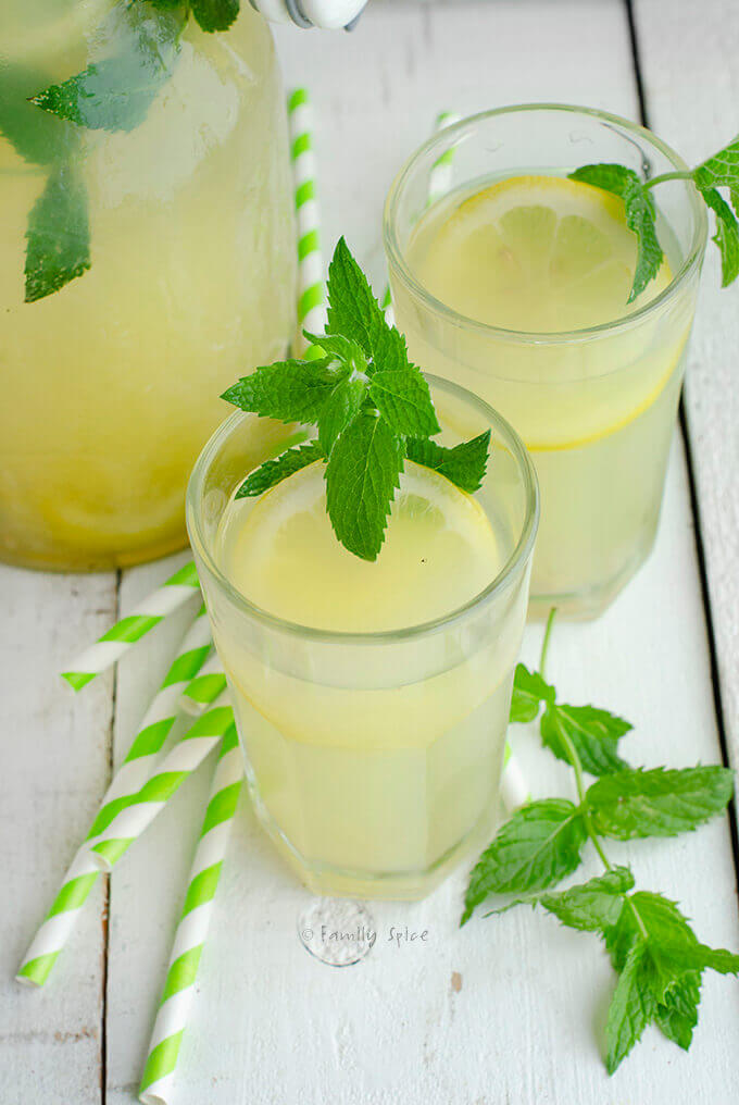 Honey and Mint Lemonade by FamilySpice.com