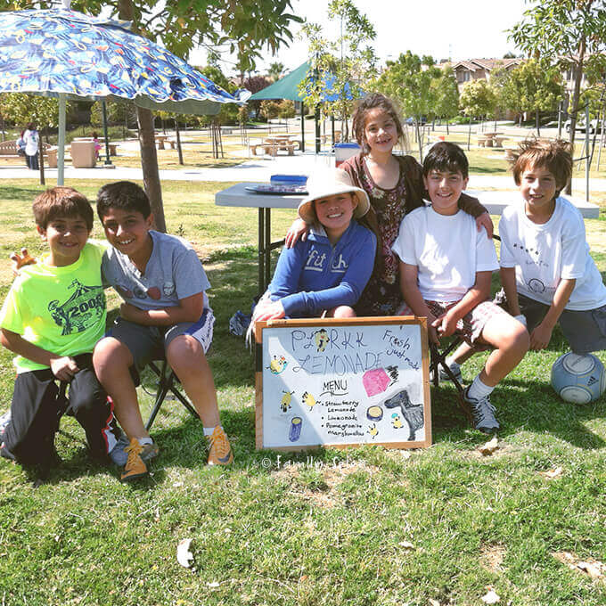 Kids and their lemonade stand by FamilySpice.com