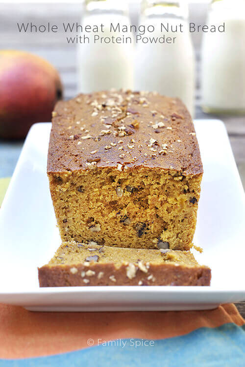 Whole Wheat Mango Nut Bread with Protein Powder by FamilySpice.com