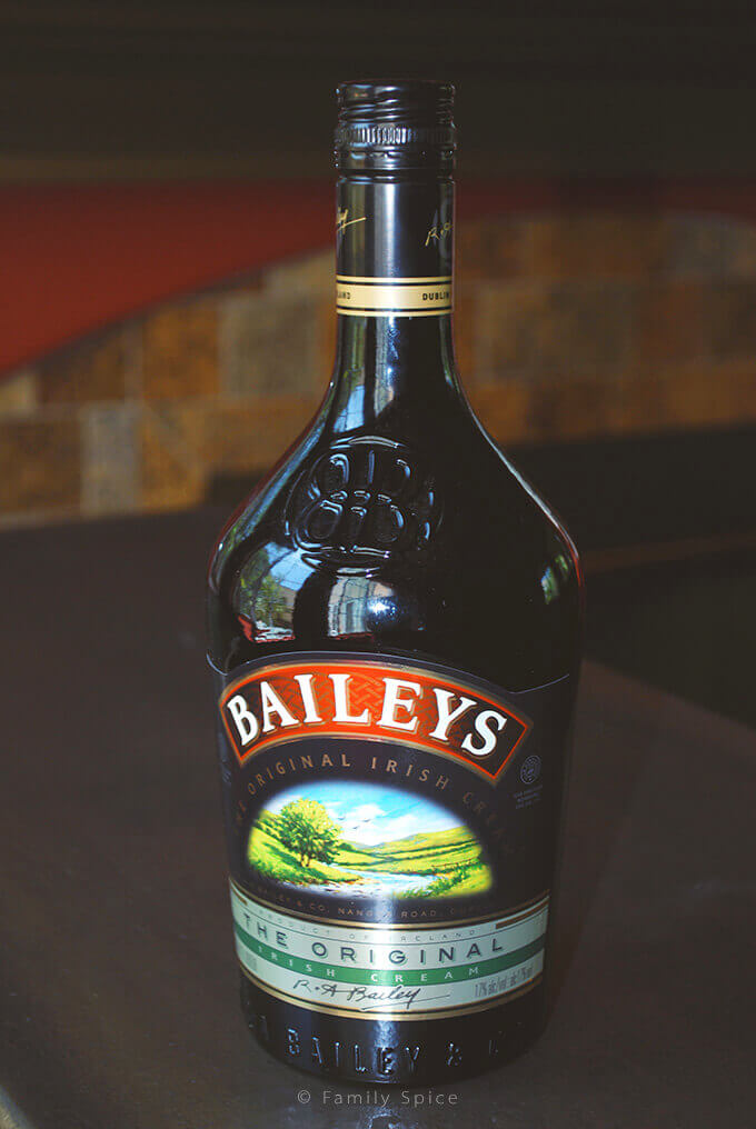 Baileys Irish Cream for Baileys Irish Cream Cupcakes by FamilySpice.com