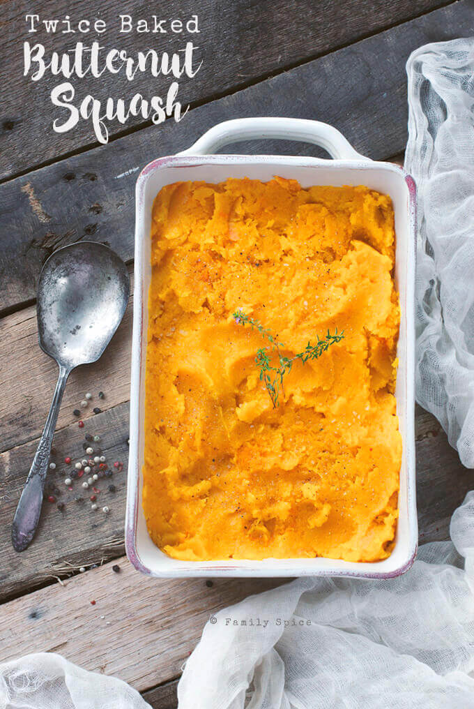 Twice Baked Butternut Squash by FamilySpice.com