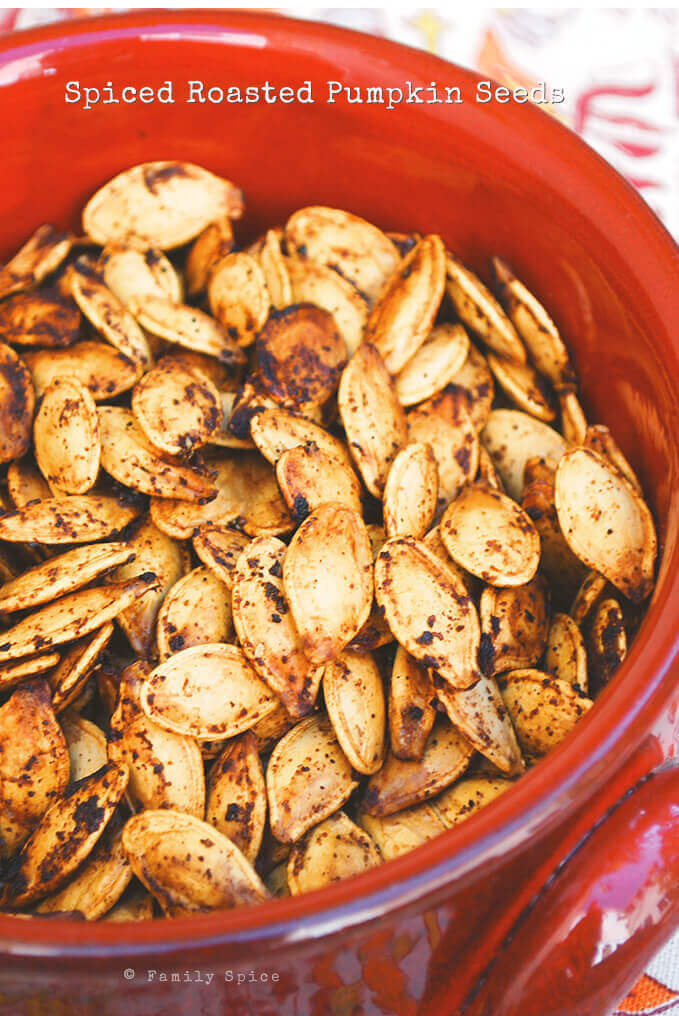 Spiced Roasted Pumpkin Seeds by FamilySpice.com
