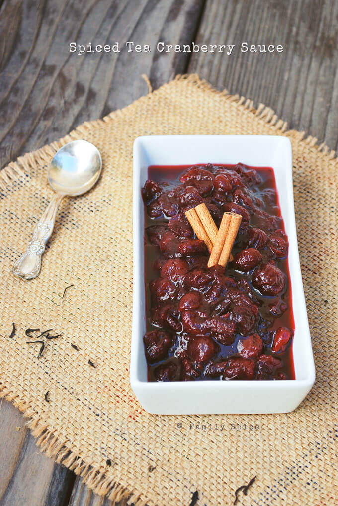 Spiced Tea Cranberry Sauce by FamilySpice.com