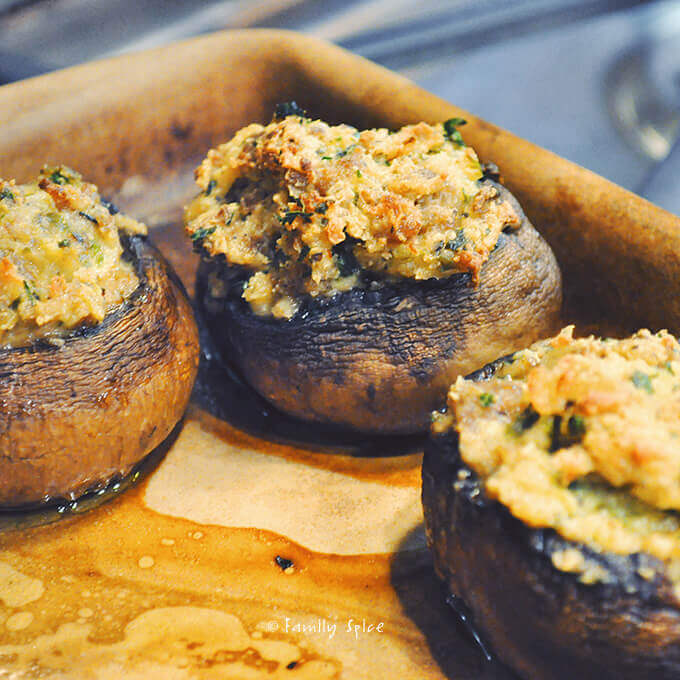 Sausage Stuffed Mushrooms by FamilySpice.com