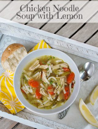 Homemade Chicken Noodle Soup with Lemon by FamilySpice.com