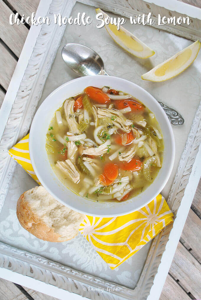 Chicken Noodle Soup with Lemon by FamilySpice.com