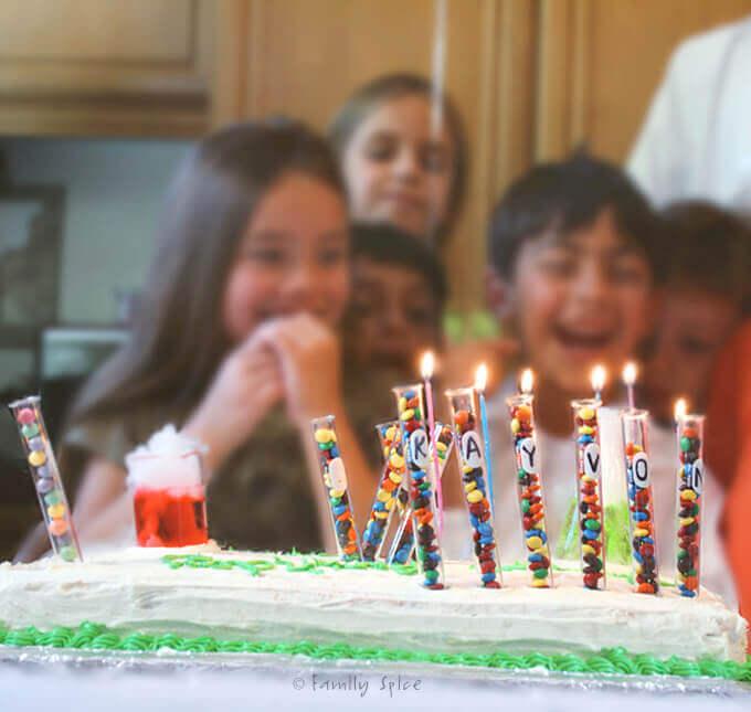 Mad Scientist Birthday Cake by FamilySpice.com